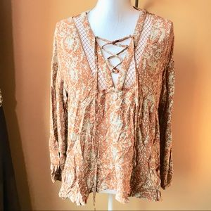Buckle Gilded Intent boho peasant blouse